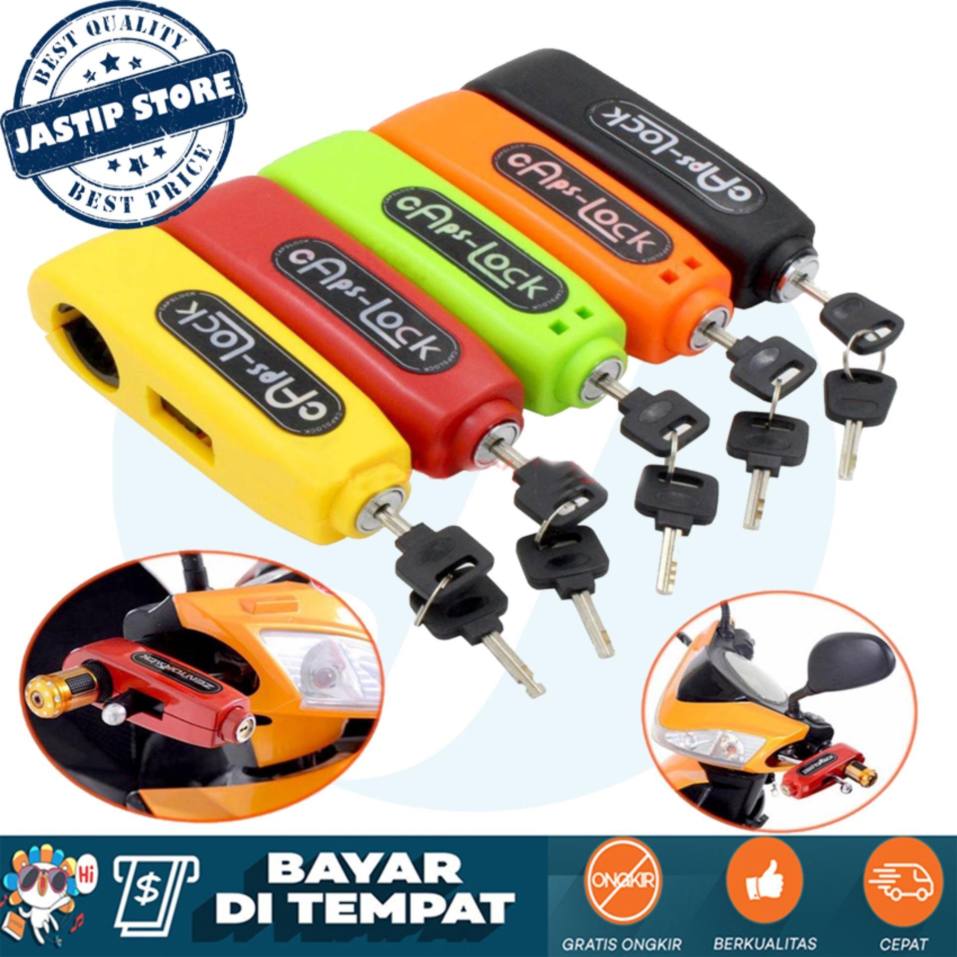 Kunci Gembok Pengaman Anti Maling Stang Motor Griplock Grip Lock / Caps Lock / Tonyiyon -