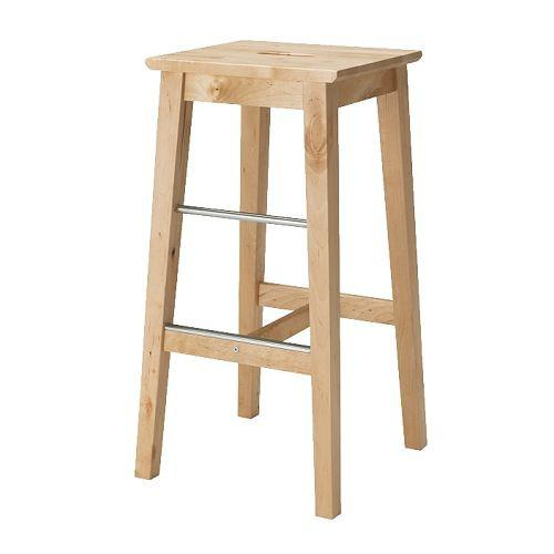 IKEA BOSSE Kursi Bar 74 Cm- Kayu Birch NEW