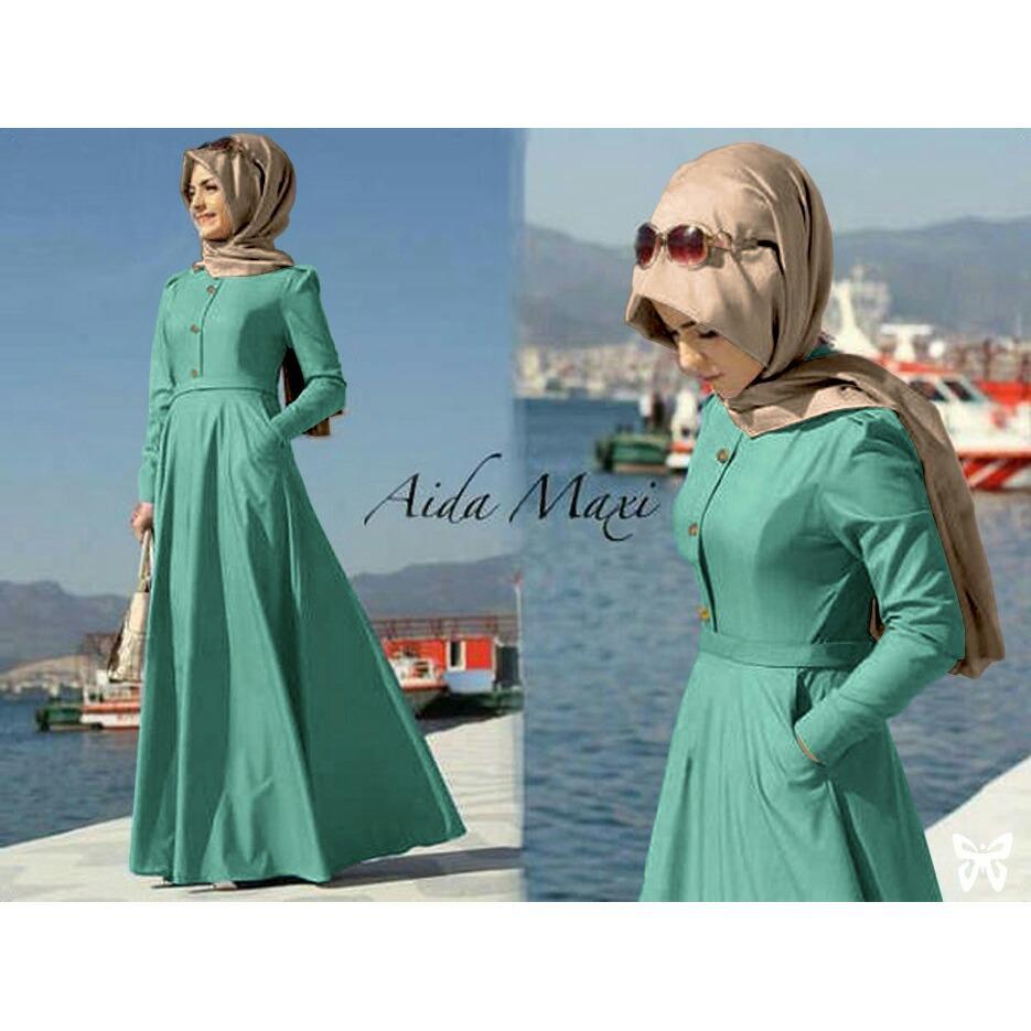 FJCO Aida / Maxi Dress / Setelan muslimah / Fashion Muslimah / Hijab Style