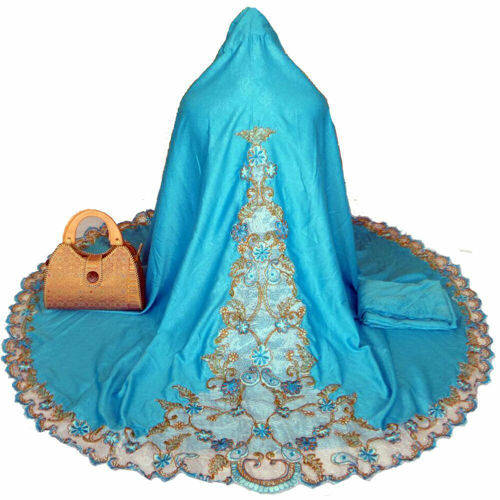 Jual Ukhuwah Mukena Bordir Semi Sutra Dove Biru Di Bawah Harga