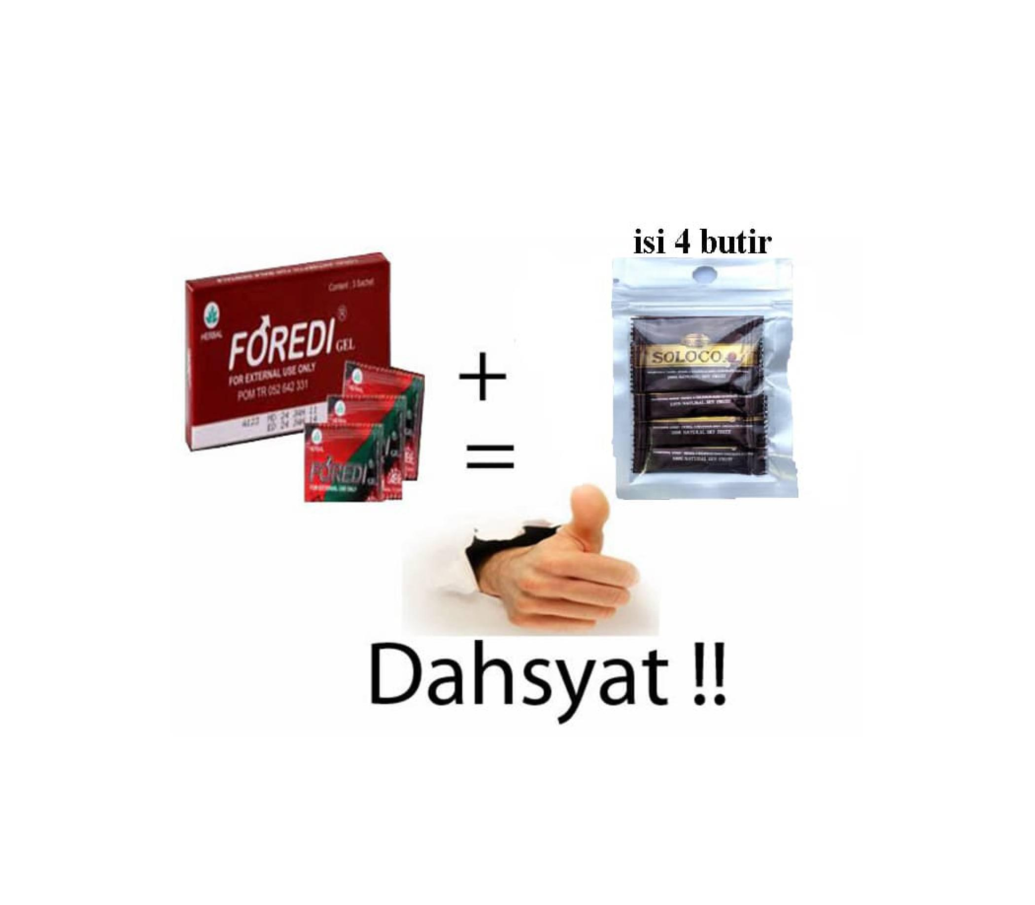 Paket DAHSYAT FOREDI 1 Box isi 3 sachet + SOLOCO 1 Bgks isi 4 butir