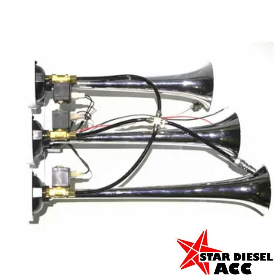 Toko Star Diesel Klakson Angin 3 Corong 12V Di North Sumatra