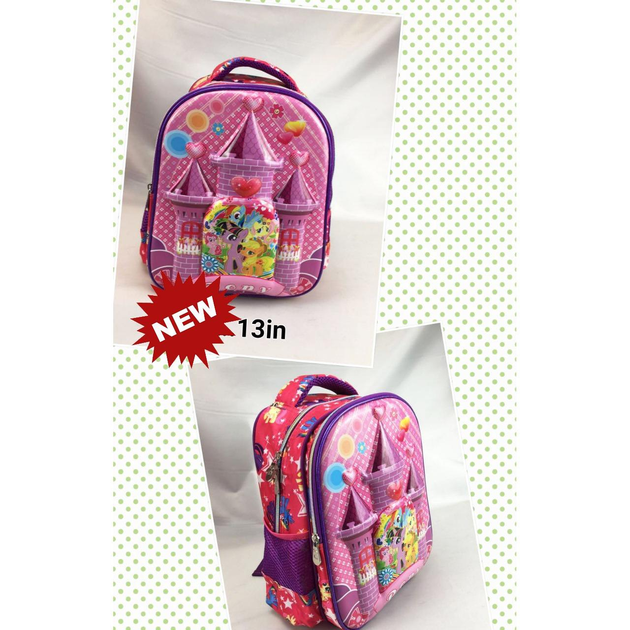 Spesifikasi Onlan My Little Pony Pelangi 5D Timbul Hologram Tas Ransel Tk New Model Purple Baru