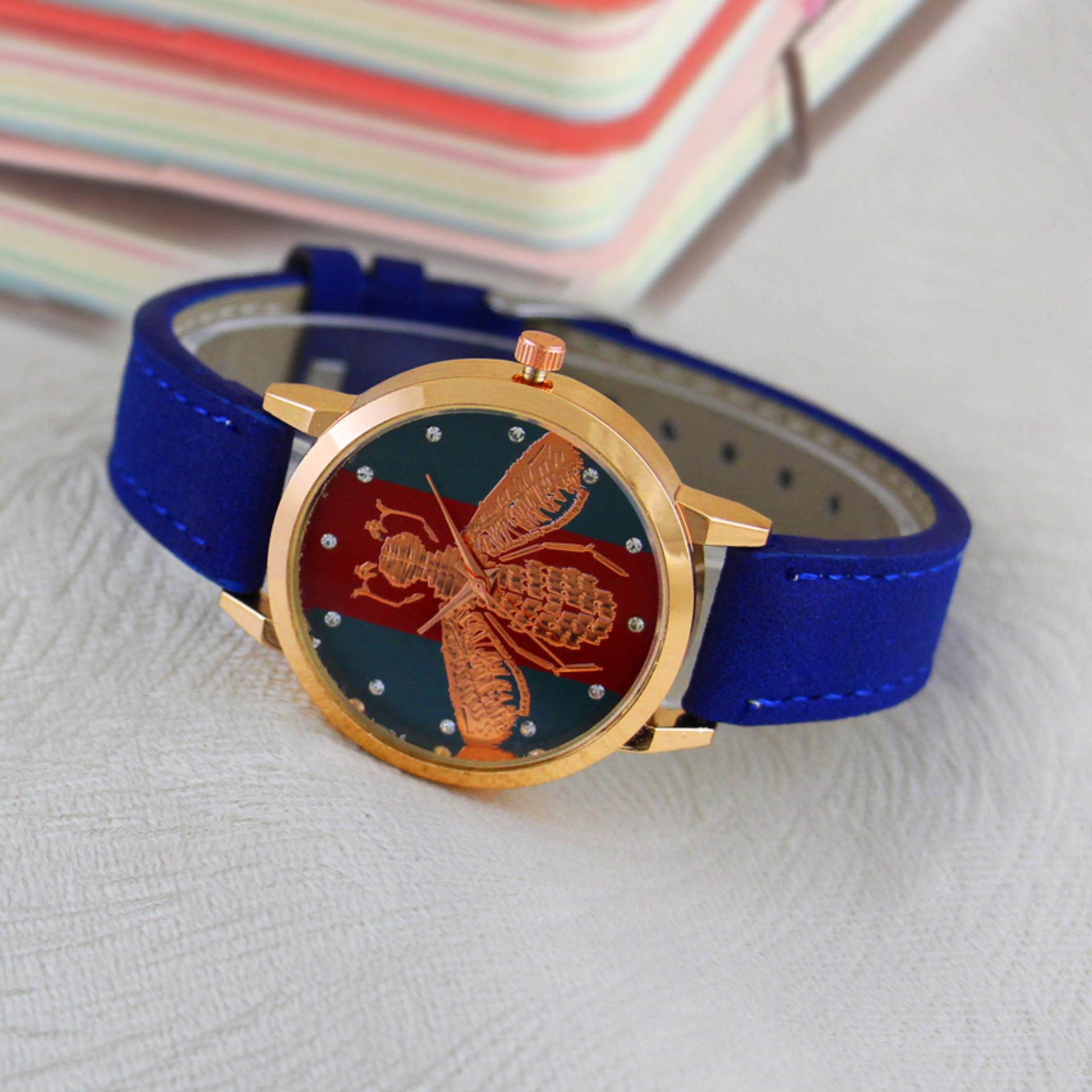 Geneva Cossy Ladies Fashion Watch GNV 1063 Blue - Jam Tangan Wanita - Biru