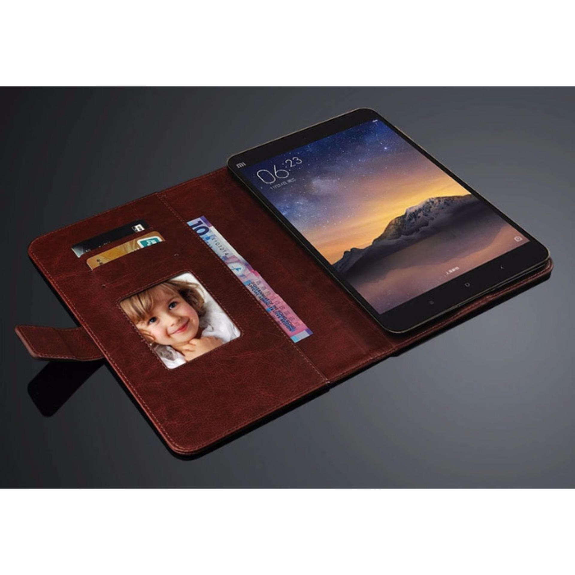 FLIP COVER WALLET Samsung Galaxy Tab A 8.0 Inch T350 T355 P350 P355 SPEN Casing Leather Case Dompet Back Cover Kulit Premium Retro