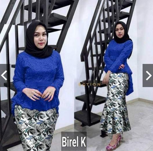 Features Moslemwear Setelan Kebaya Pesta Brukat Modern Rok Duyung