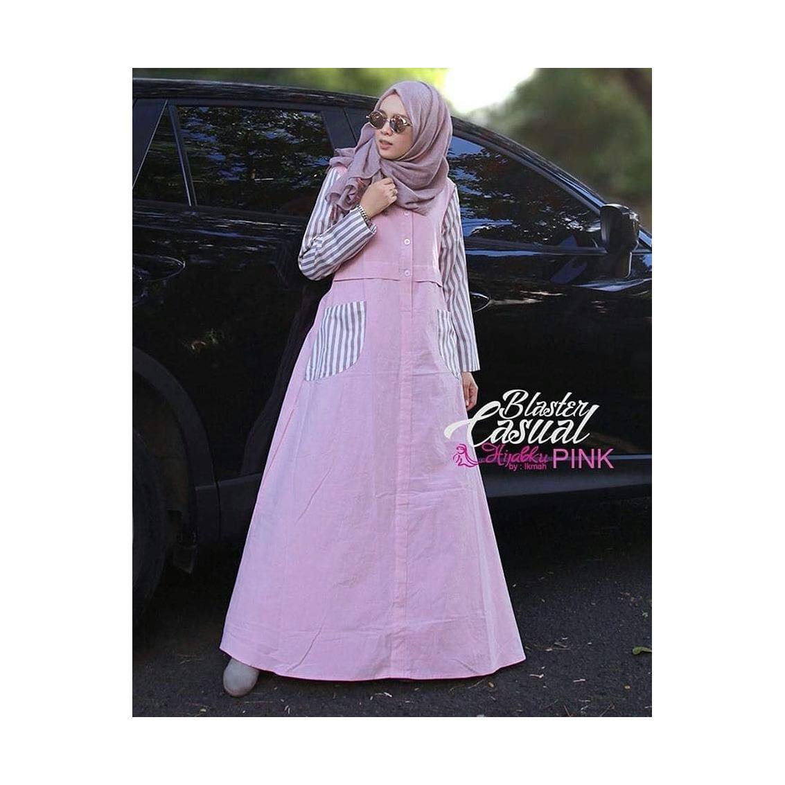 Baju Blaster Casual Maxi Dress Panjang  Balotelly Hijab Casual Pakaian Muslim Wanita Muslim Modern Terbaru Termurah  2018