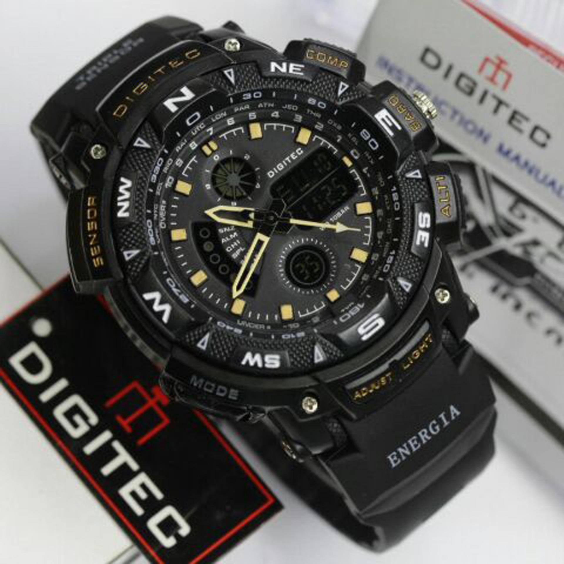 Digitec Jam Tangan Sport Pria Rubber DG2044T Dual Time