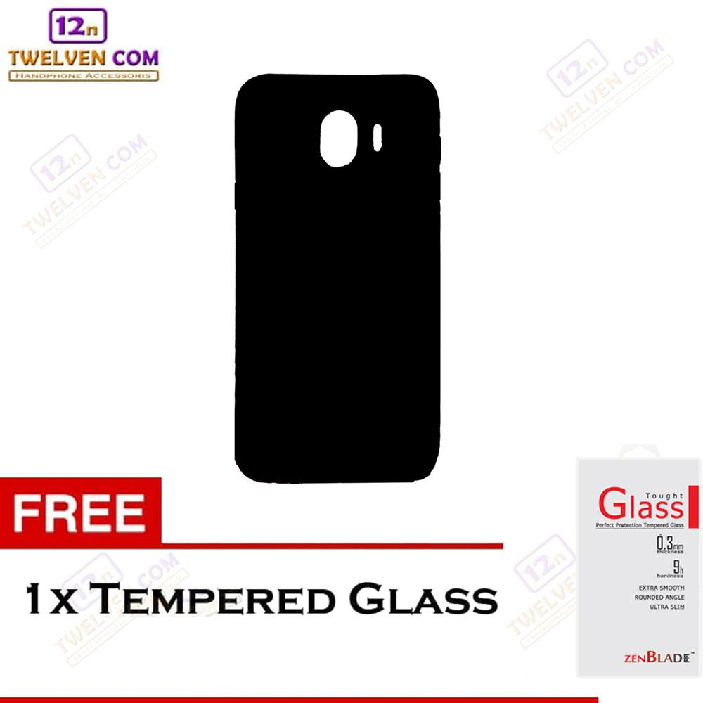 Twelven Case Slim Matte For Samsung J4 2018 - Free Tempered Glass