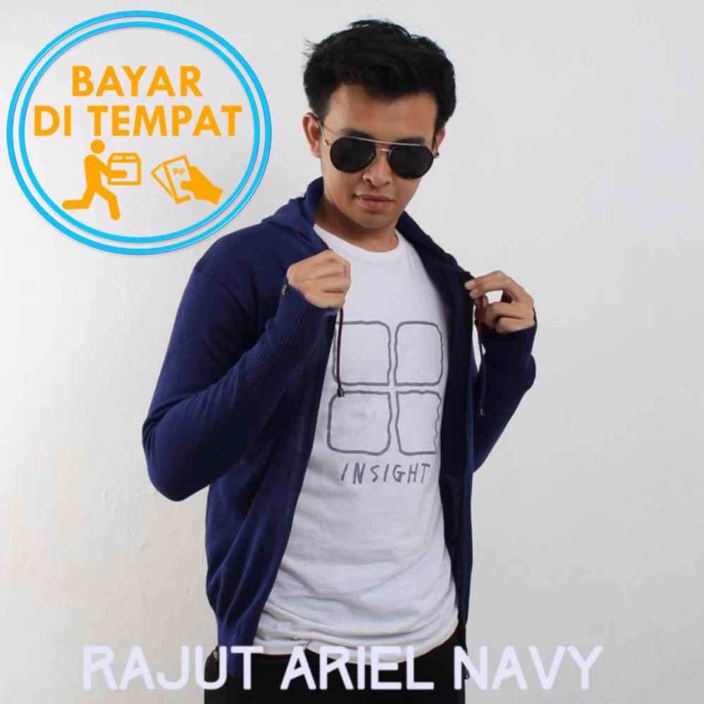 Beli Sweater Rajut Round Hand Finger Navy Jempol Bolong Rajut Collection Asli