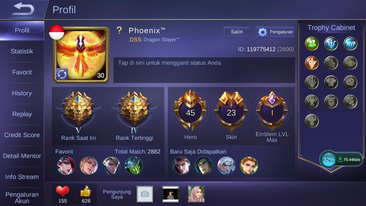 jual akun mobile legend / ML