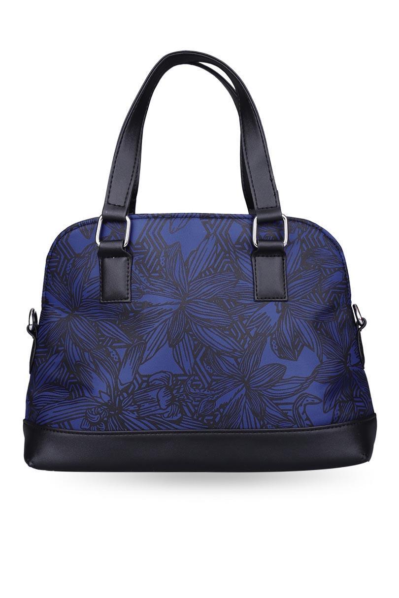 ... Alibi Women Bags Top-Handle Bags Navy Blue Satchel Bag - 3 ...