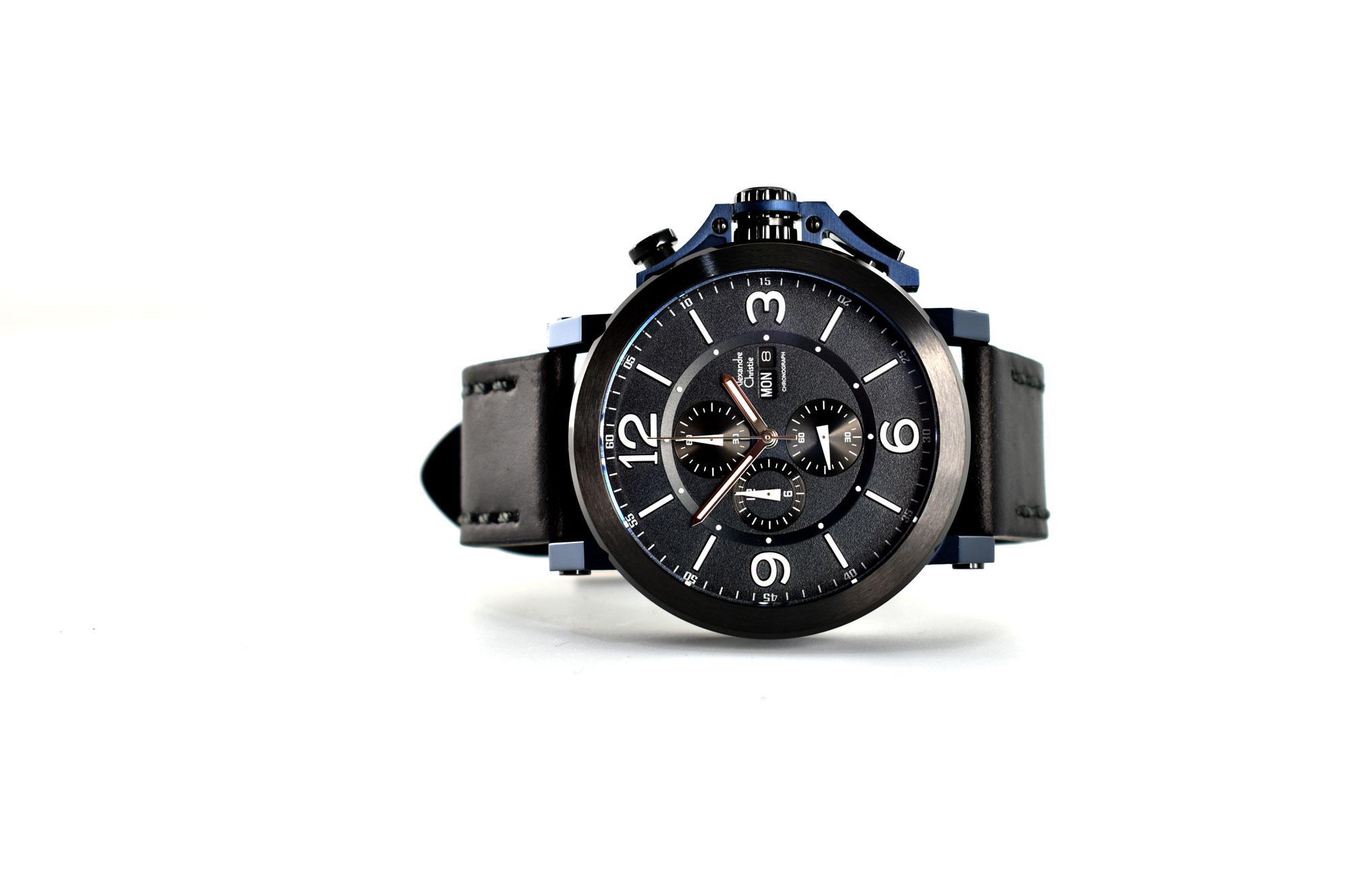 Kelebihan Alexandre Christie Ac 6281 Chronograph Jam Tangan Pria Ac6281 Original Black Tali Kulit Case Stainless Steel 2