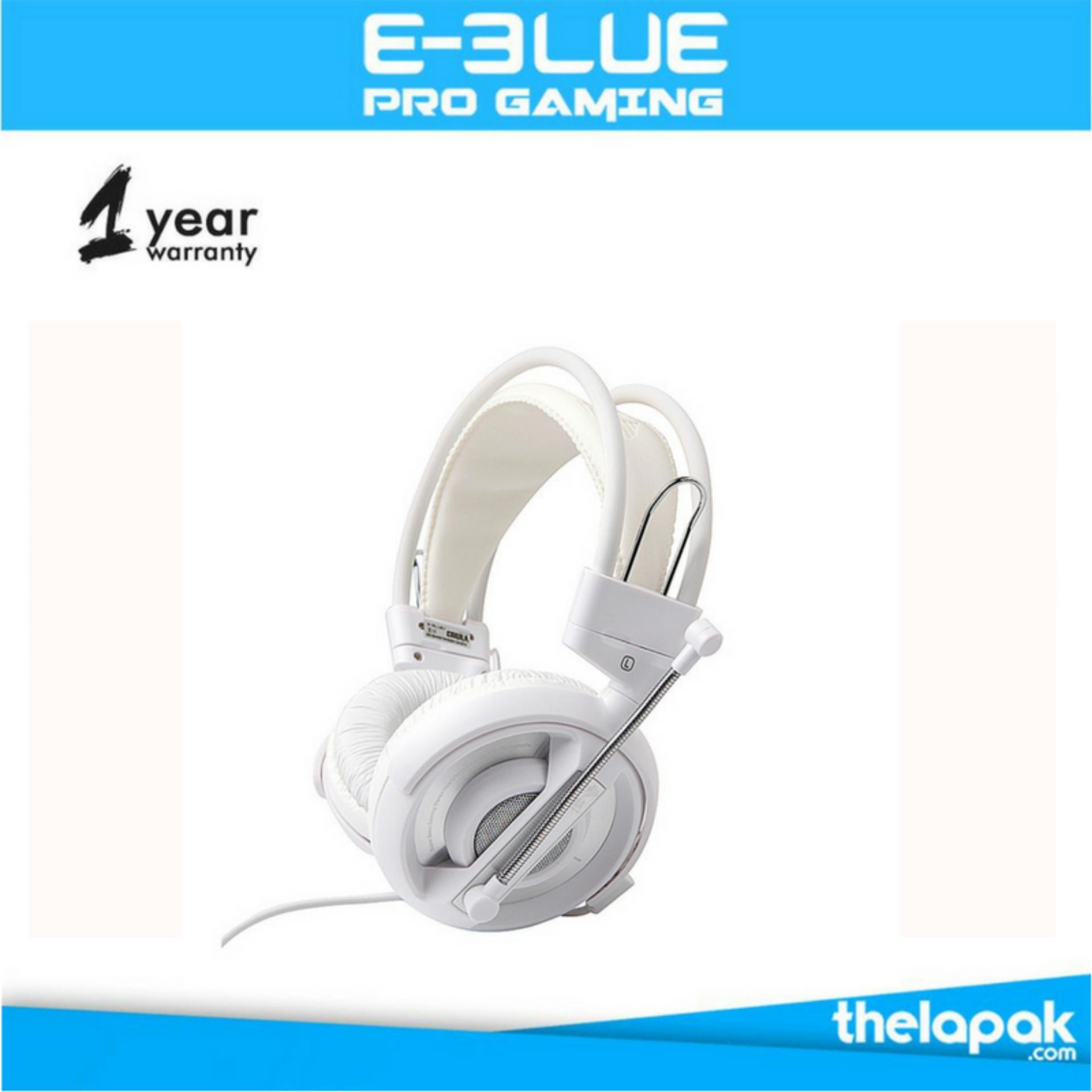 Jual E Blue Cobra Gaming Headset Putih Antik