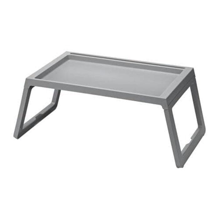 IKEA KLIPSK Baki untuk Tempat Tidur - Bisa dilipat, abu-abu