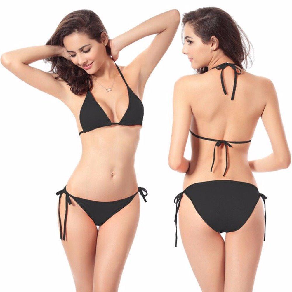 Bikini Polos Baju Renang Swimsuit Swimwear Sexy Wanita