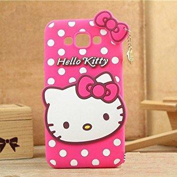 NDR-Store Case Softcase Casing Samsung J1 ACE 3D Karakter Hello Kitty Bonus Handsfree