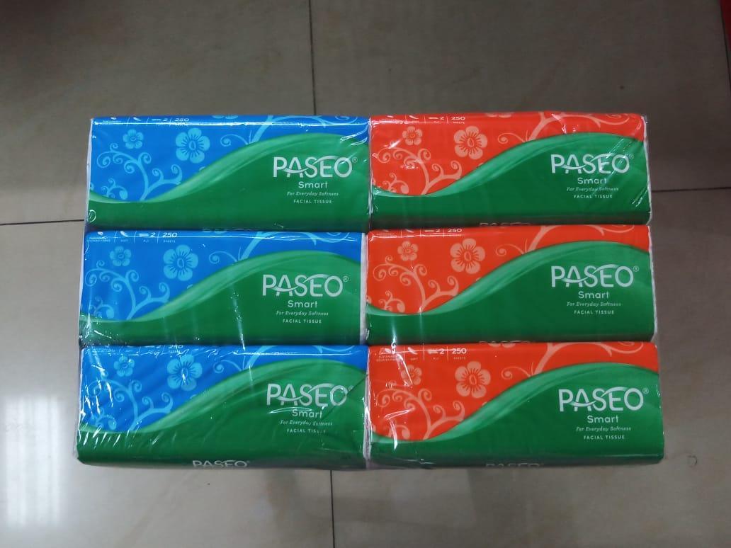 6 Pcs PASEO Original Tisu Tissue Smart 250 Sheets 2 Ply