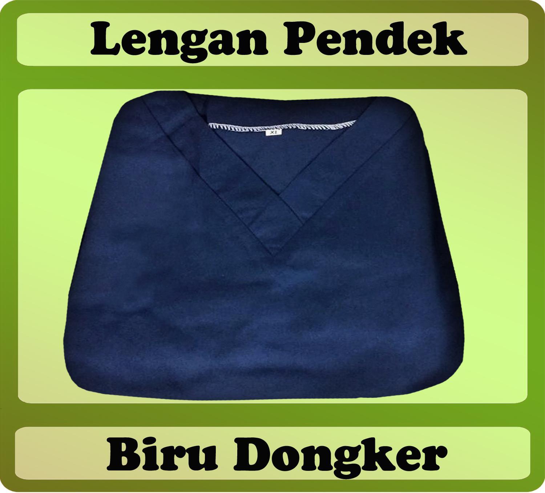 Baju Oka, Baju Jaga, Baju Dokter Lengan Pendek Warna Biru Dongker