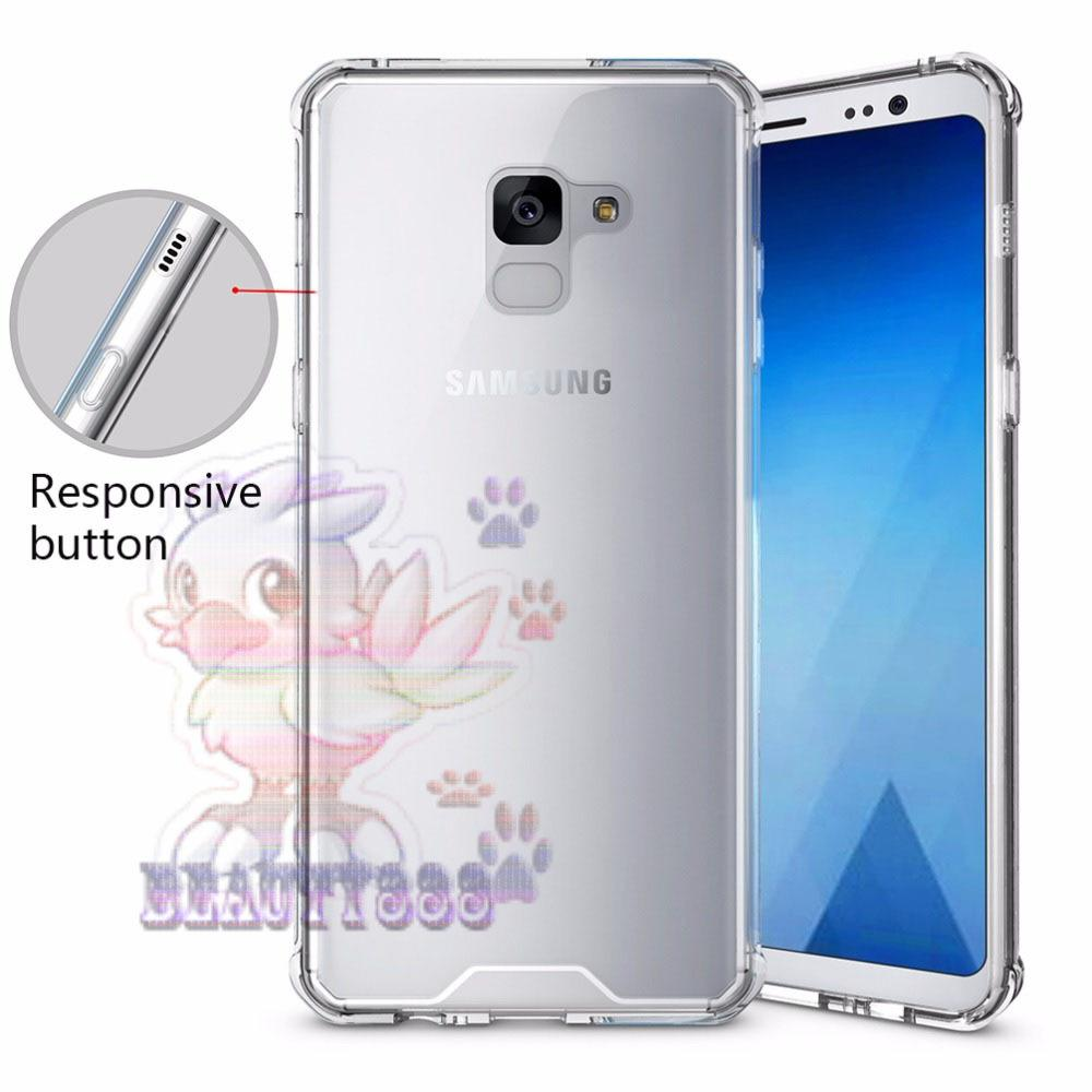 Case Samsung Galaxy A8 2018 Ultrathin Anti Crack Luxury Softcase Anti Jamur Air Case 0.3mm / Silicone Samsung Galaxy A8 2018 / Soft Case / ANTI Shock Case / Silikon Anti Crack / Case Hp / Case Samsung A8 2018 Anti Crack / Pelindung Hp - Putih Transparant