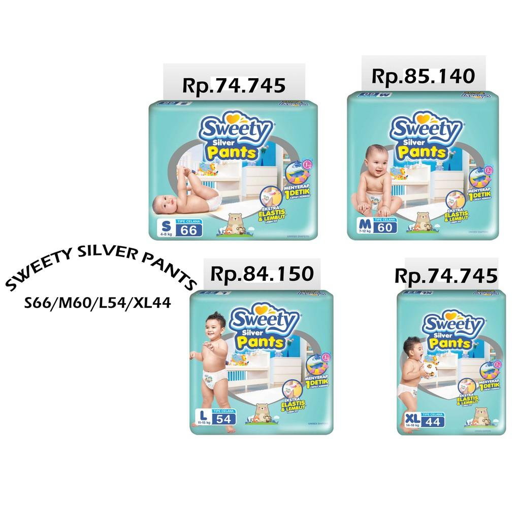 Kelebihan Sweety Popok Silver Pants M 60 Pcs New Package 2018 Bayi Pantz Royal Gold Xl 44 S 66 L 54 Variasi