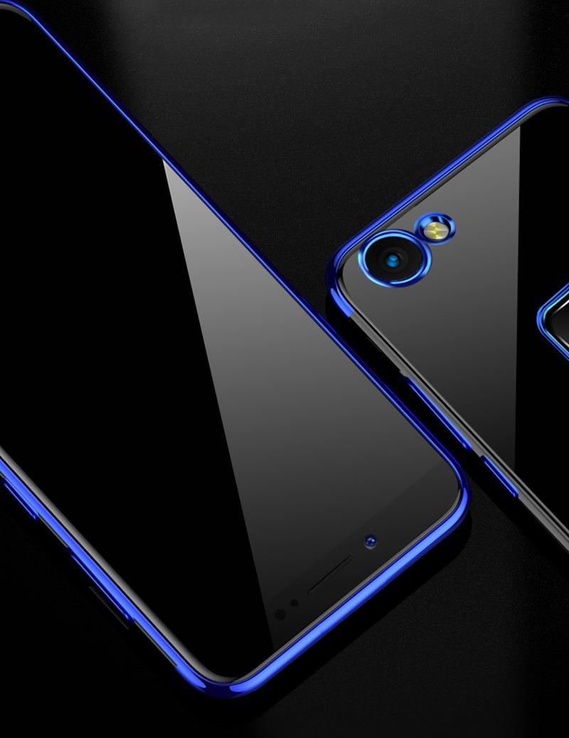 Cover Paradise Vivo V7 Plus Shiny Electro Plating Clear Chrome Soft Case 1025 .