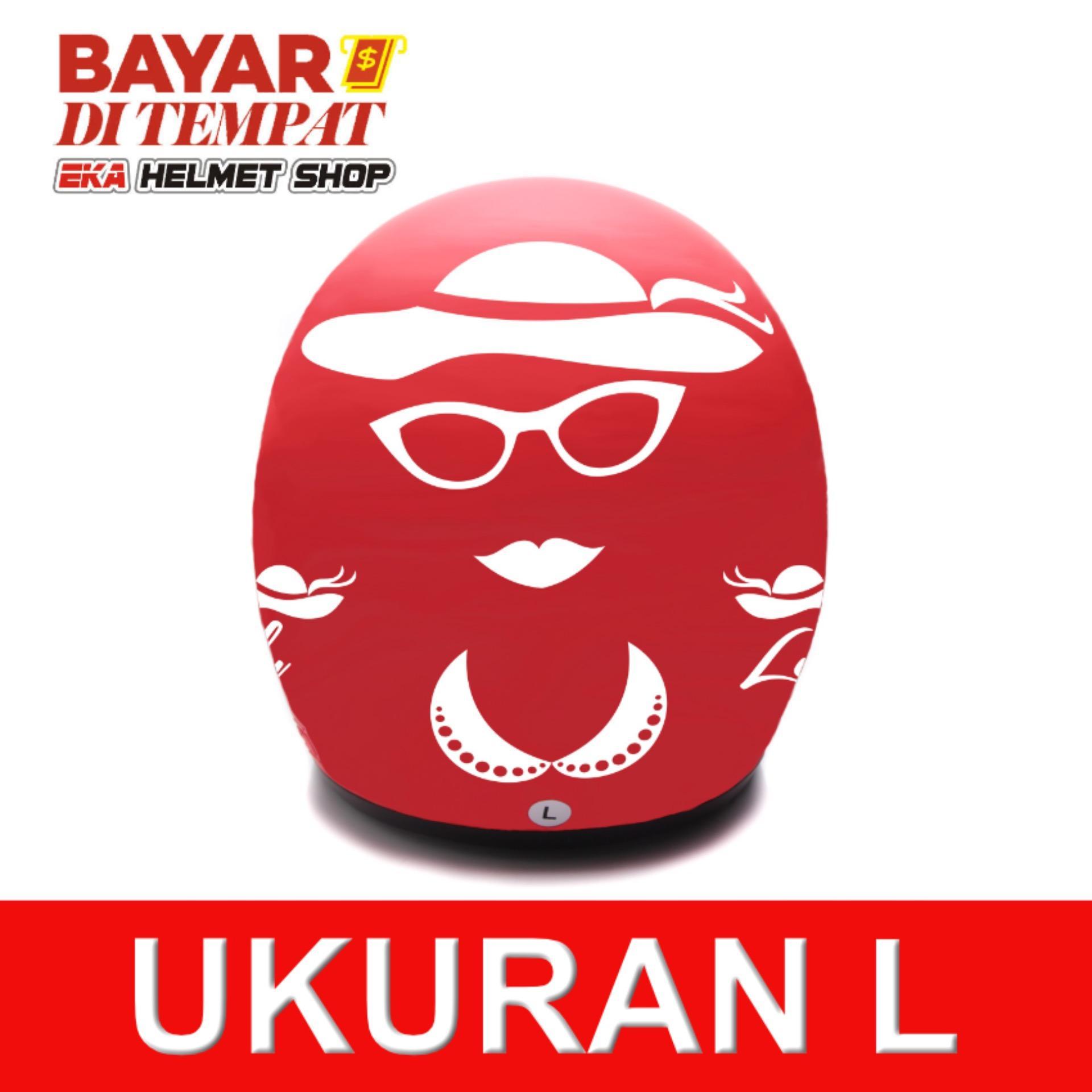 Jual Beli Wto Helmet Retro Bogo Lady Merah Doff Baru Banten