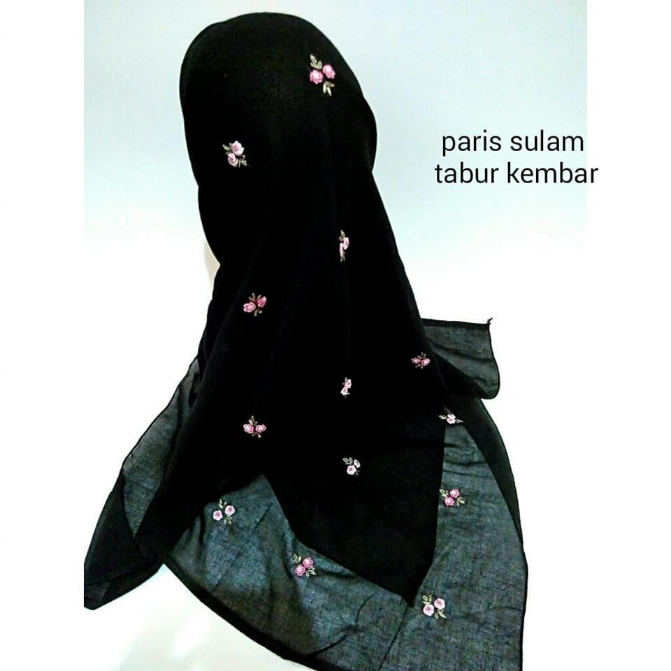 Kelebihan Jilbab Paris Segiempat Polos Murah Terkini Daftar Harga Segi Empat Sulam Tabur Kembar