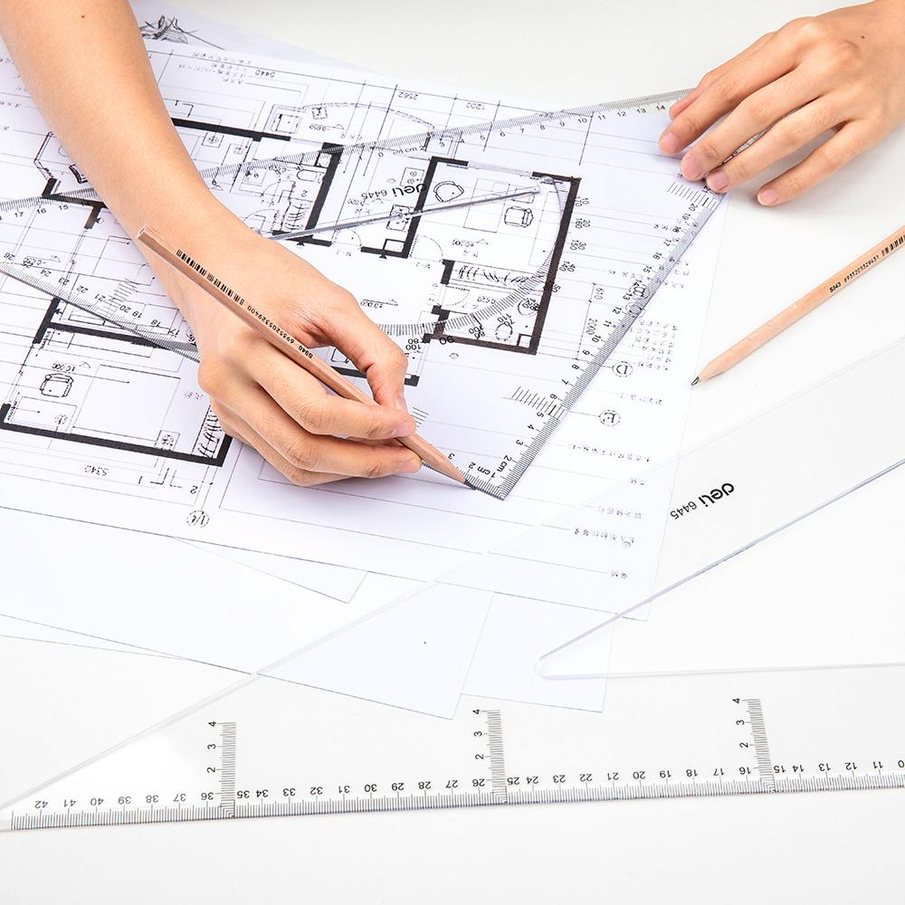 Deli E6445 Drafting/Drafting - Set Square 2pcs 43cm - 5