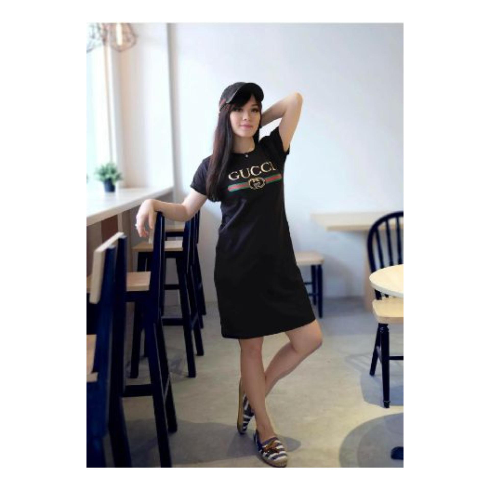 hemat murah   dress guci hitam   dress mini   pakaian rumahan   dress santai 8f9cf54f90