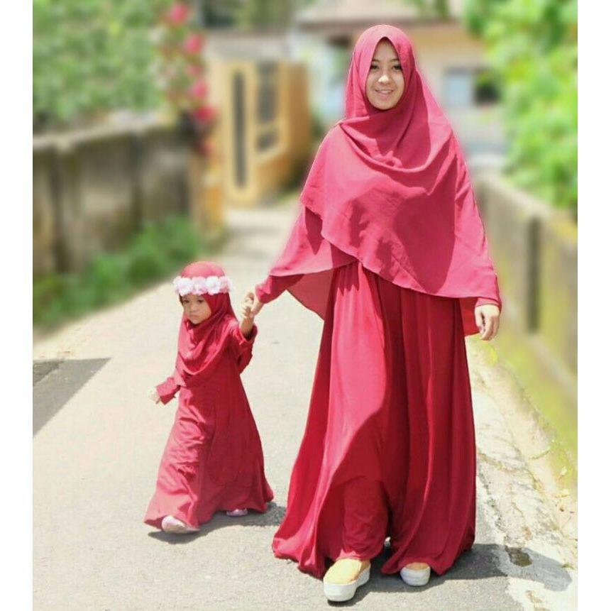 J&C Setelan Couple Mom & Kid Hijab Casilla / Gamis Ibu dan Anak / Gamis Ibu & Anak / Baju Kembar Ibu & Anak / Baju Couple Mom & Kids / Baju Kembar Ibu dan Anak / Baju Ibu Anak / Baju Muslim Ibu dan Anak