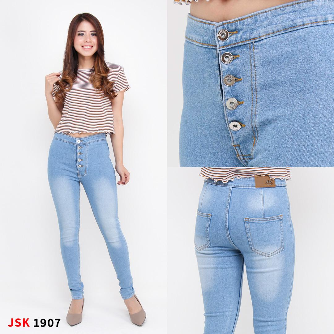Features Jsk Celana Jeans Wanita Model Highwaist Kancing 5 Dan Harga