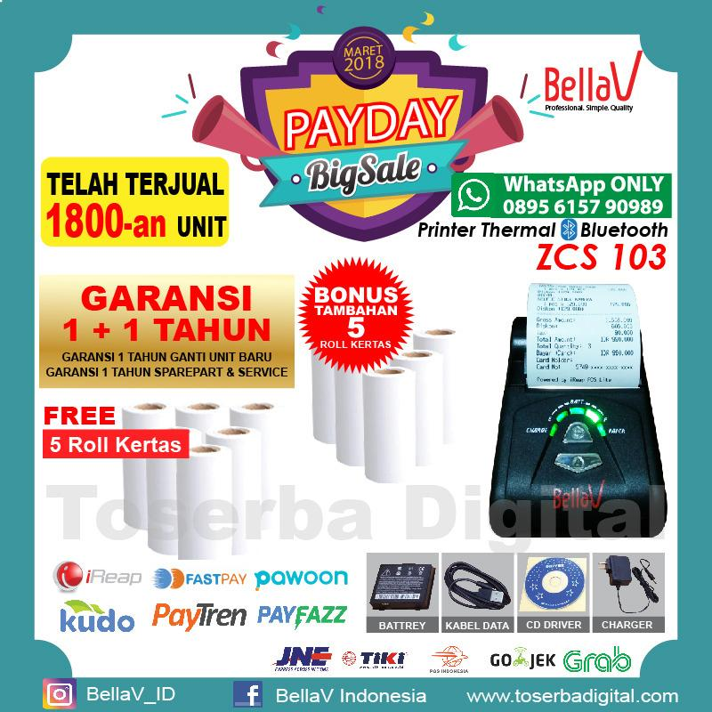 Top 10 Printer Bluetooth Thermal Bellav Zcs 103 Support Paytren Fastpay Ireap Online