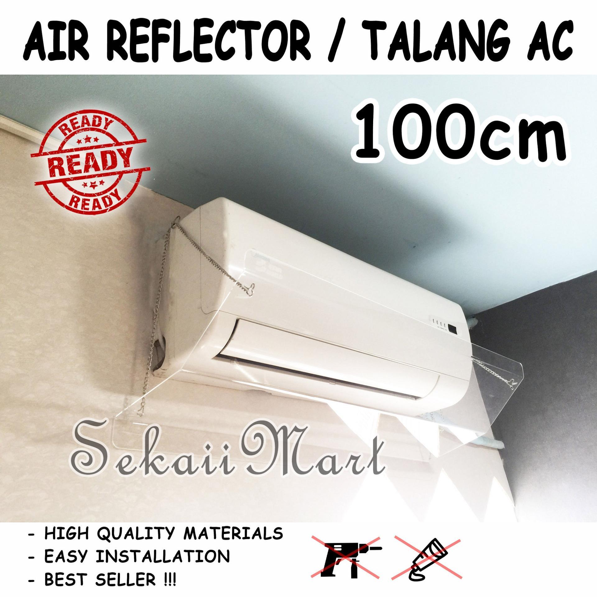 ES100 - TALANG AC ACRYLIC - AKRILIK AC - PENAHAN HEMBUSAN ANGIN AC 100cm