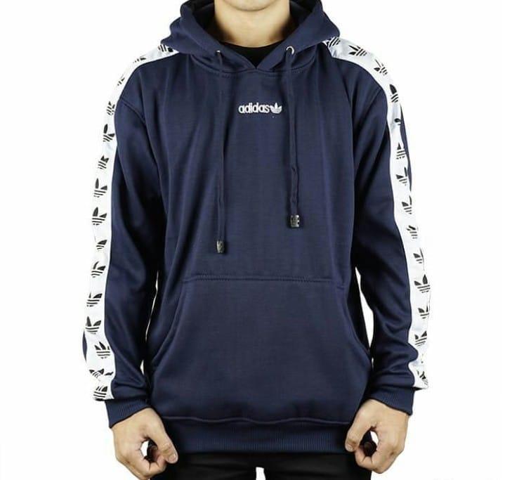 Jaket Pria Sweatshirt Jumper Korean Hoodie Fleece Polos Hitam