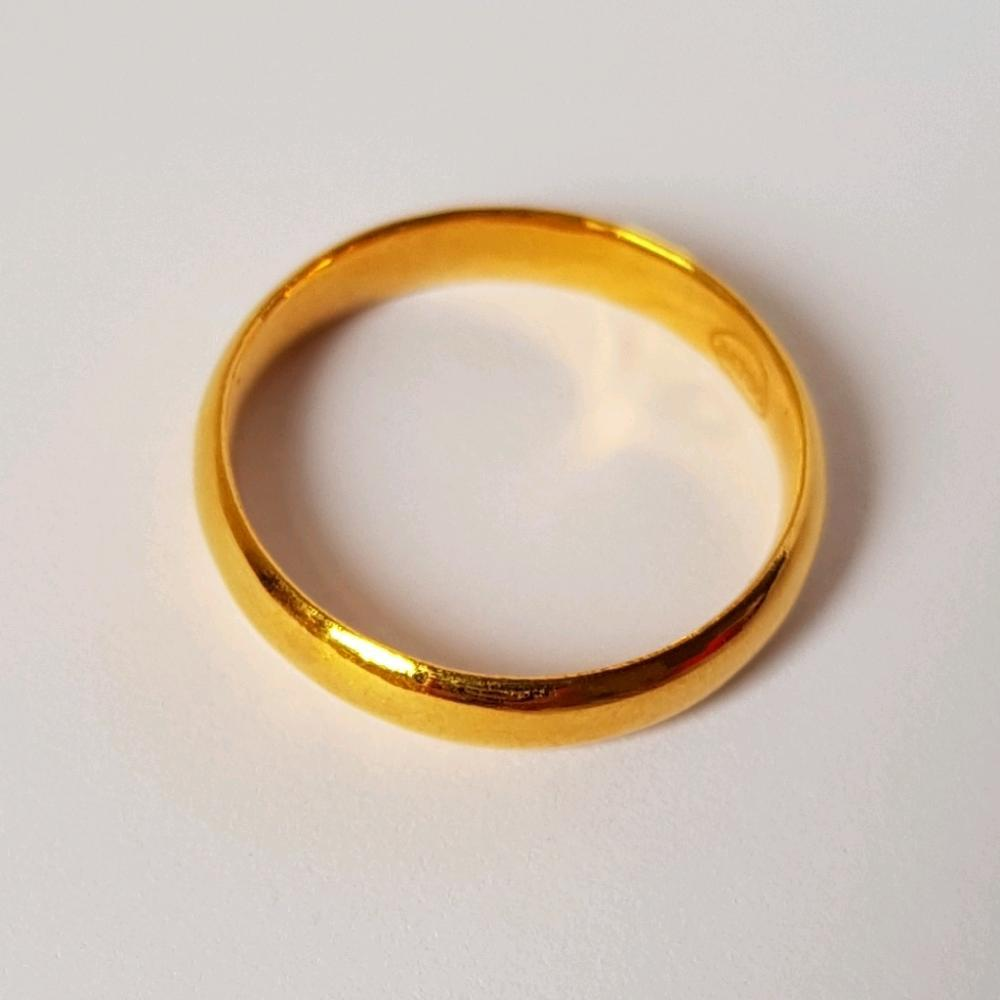 Termurah... Cincin Emas Asli Kadar 700 Cincin Polos / Cincin Kawin / Cincin Unisex / Cincin Tunangan / Ring Gold