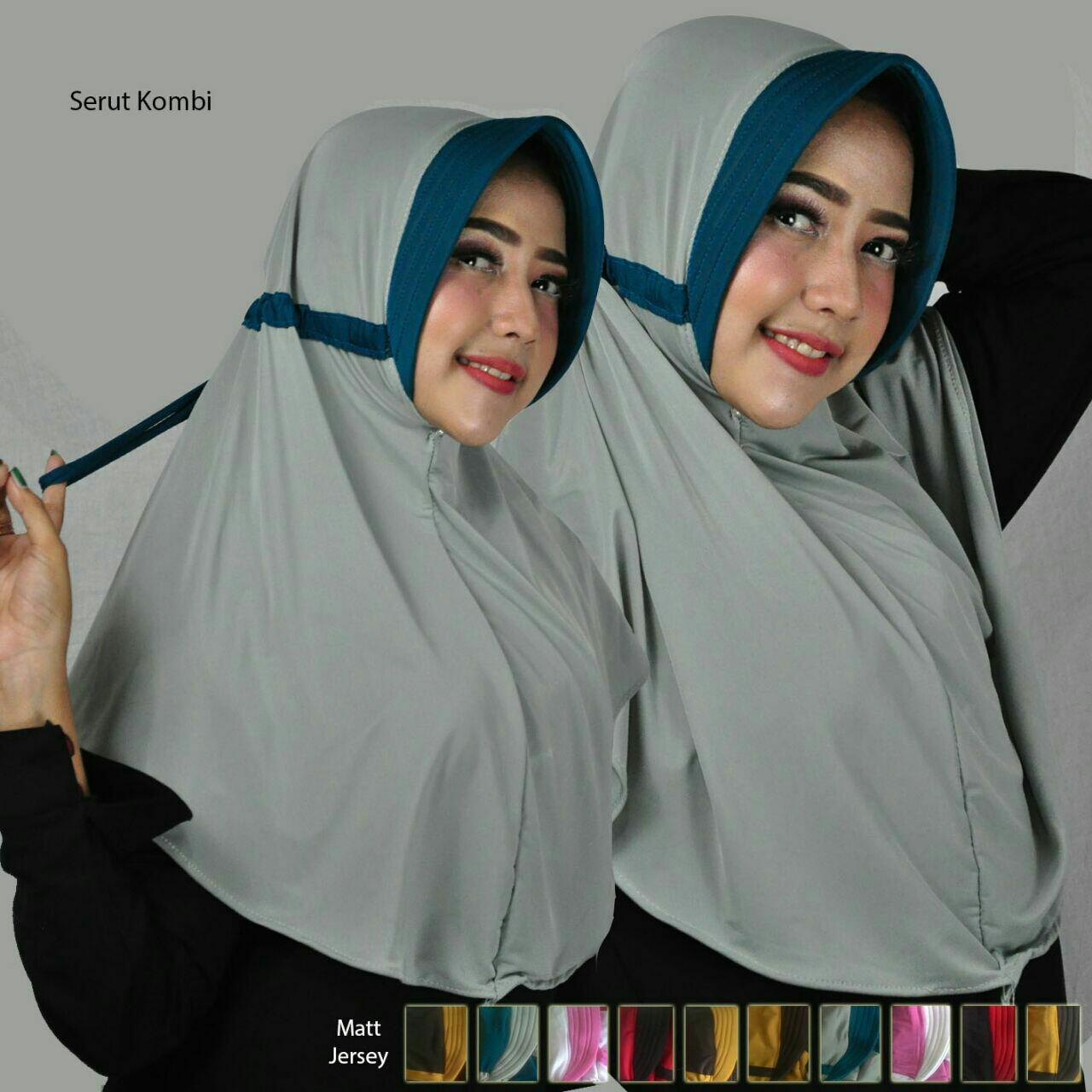 Kerudung Jilbab Syari Hijab Instan Pastan Serut Kombi