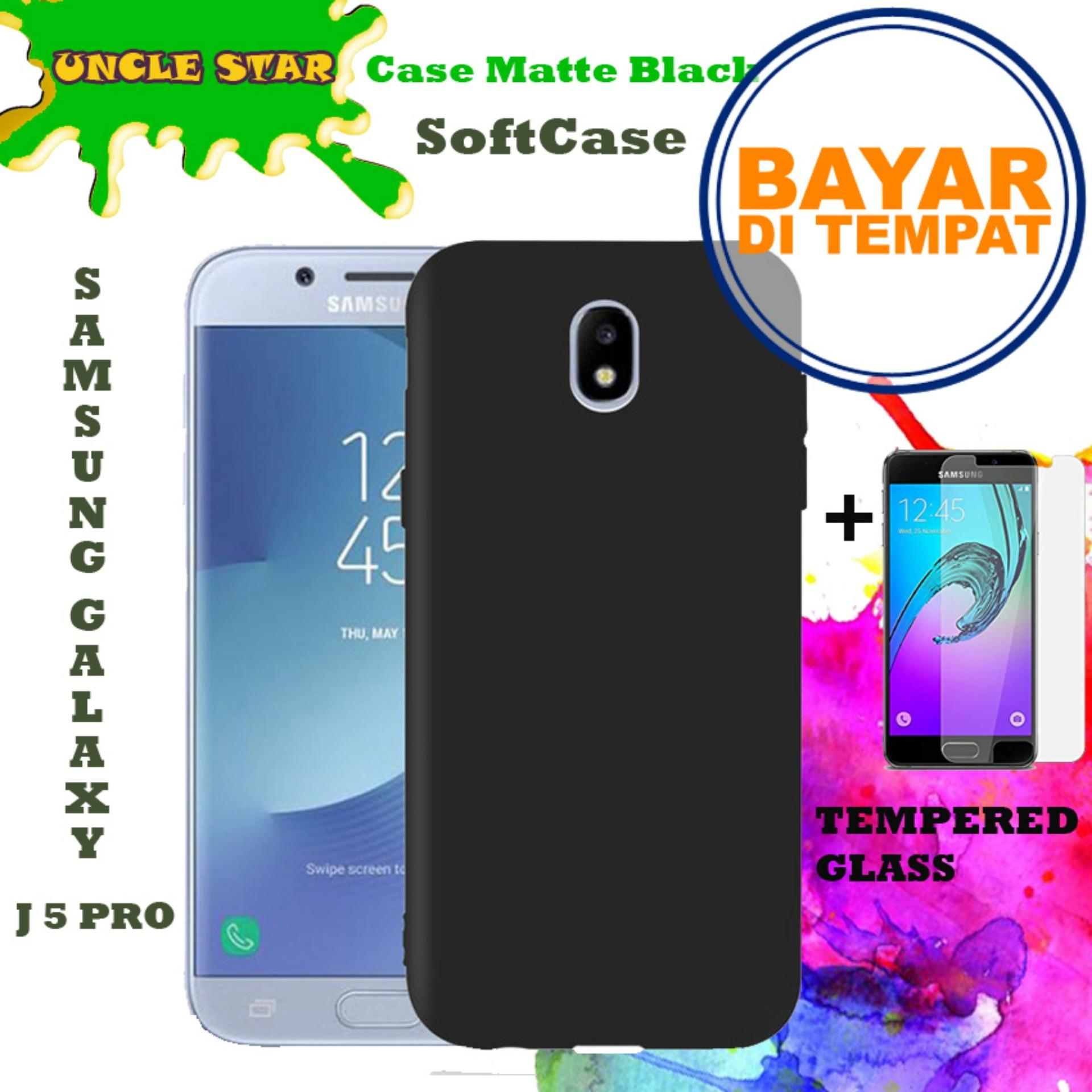 Uncle Star - SOFTCASE Case Matte Black Elegant For Samsung Galaxy J5 Pro + Free Tempered
