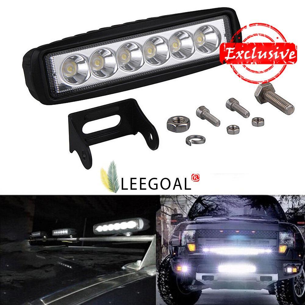 Beli Leegoal 18 Watt Memimpin Jalan Cahaya Bar Tahan Air Untuk Cadangan Tempat Kerja Lampu Perahu Atv Sepeda Motor Suv Truk Pikap Jeep Terbaru