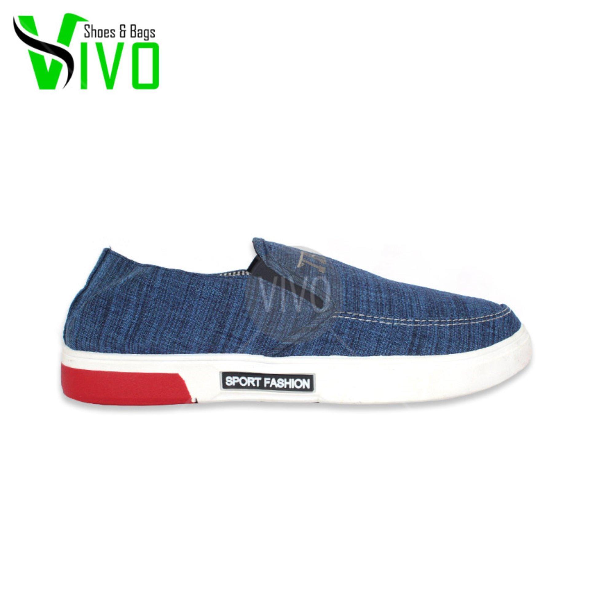 ... Vivo Fashion Sepatu Casual Pria/Sepatu Slip On Pria/Sepatu Sneakers Pria SP08972 -