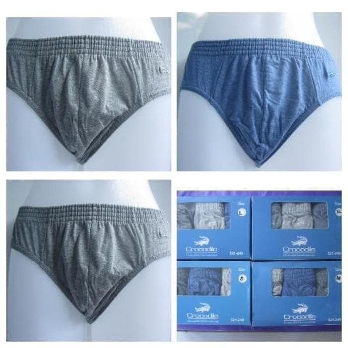 Harga Celana Dalam Cd Pria Katun Crocodile 521 240 1 Box 3 Pcs Murah
