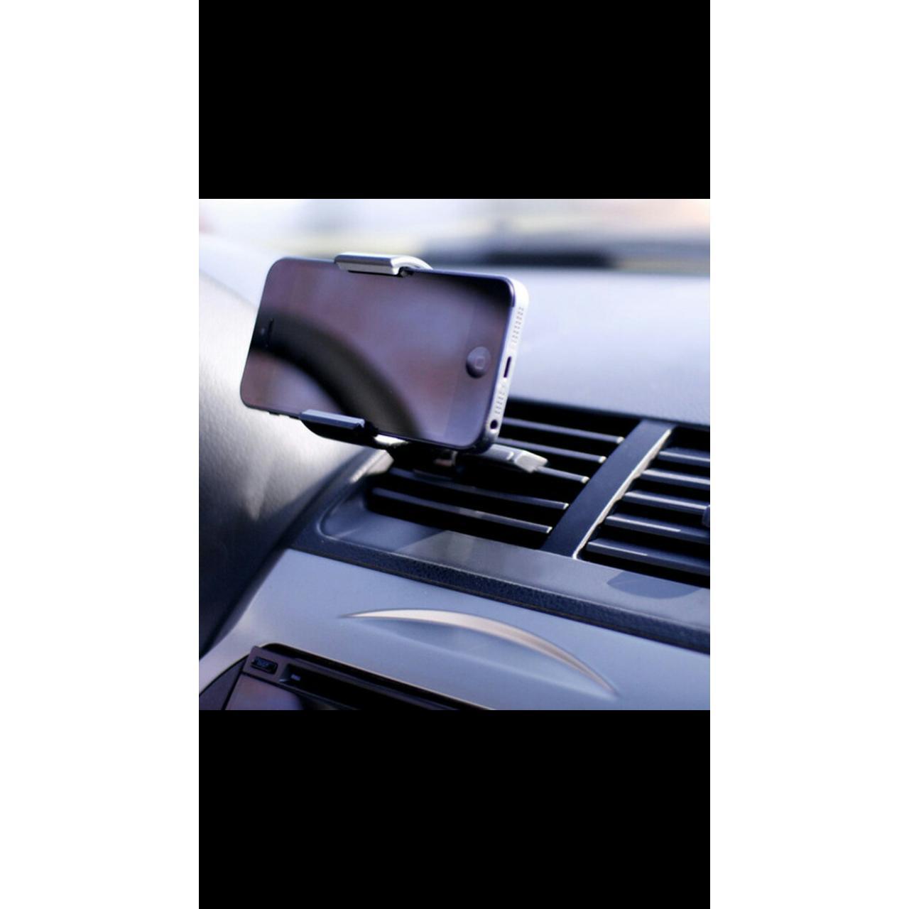 Fitur Carmount Original Ventilation Car Holder Pegangan Handphone Tempat Hp Mobil Gantungan Ac Phone Universal Penyangga Lh