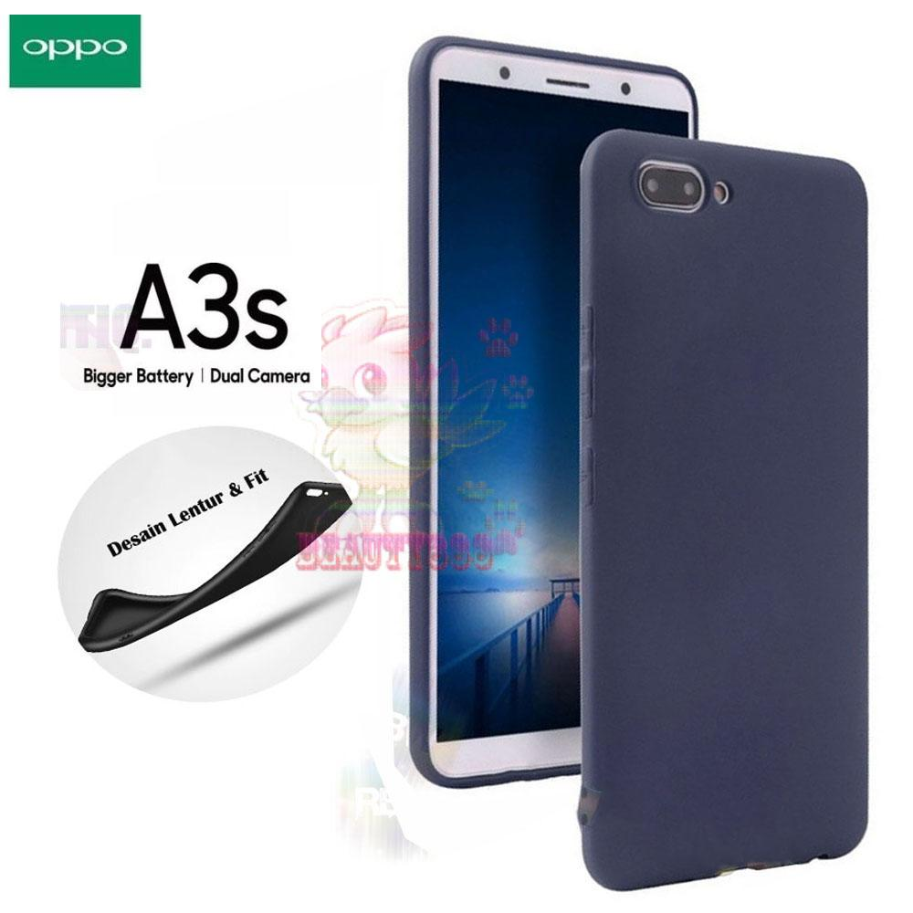 Lize Case For Oppo A3S Rubber Silicone Anti Glare Skin Back Case / Silikon Oppo A3S