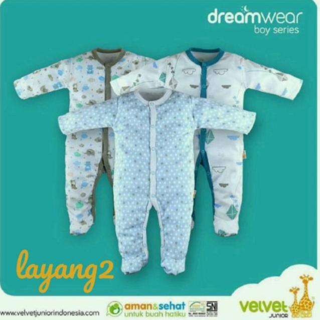 Katalog Velvet Junior Dream Wear Motif Layang Layang Sleepsuit Velvet Junior Terbaru