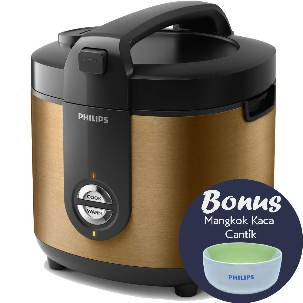 Philips HD3128/34 - Rice Cooker 2 Liter Gold ProCeramic