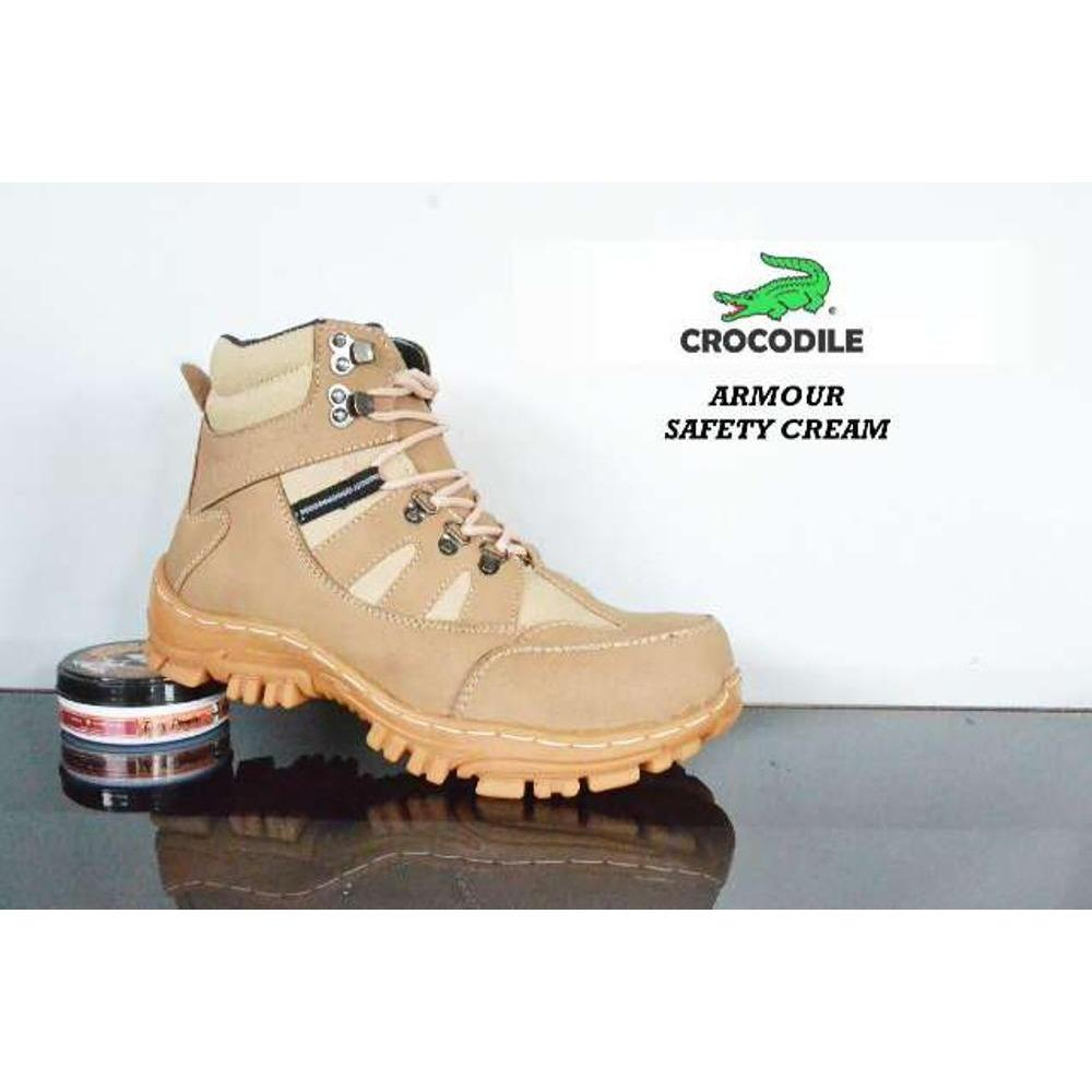 Sepatu boot pria Crocodile Armour Safety Cream