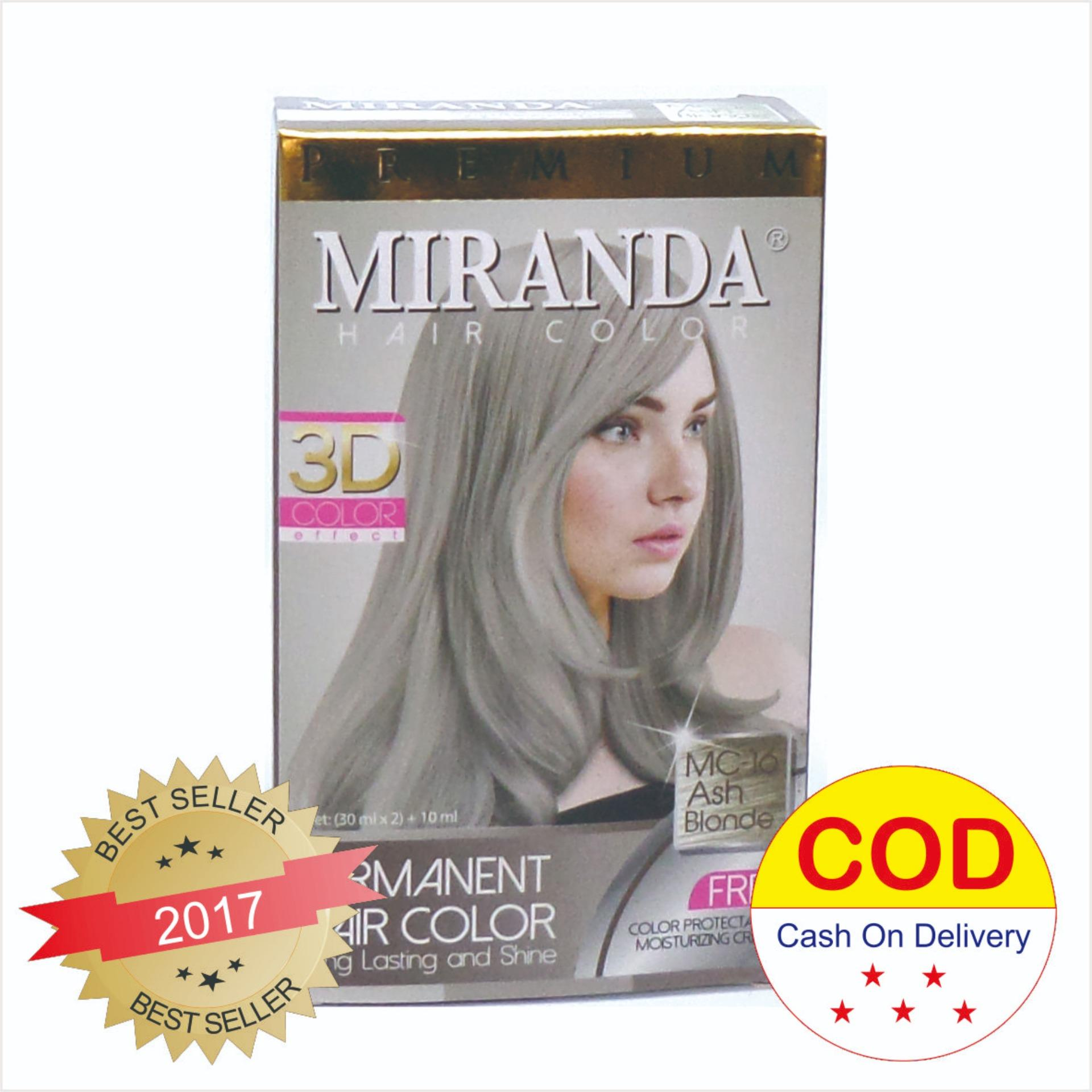 Miranda hair color cat rambut warna Ash blonde MC 16