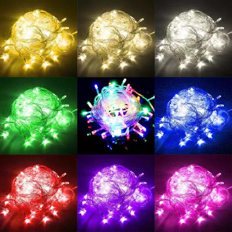 Detail Gambar Kiarashafa - Lampu Tumblr Hias LED 10 Meter Warm White + Free Colokan Sambungan