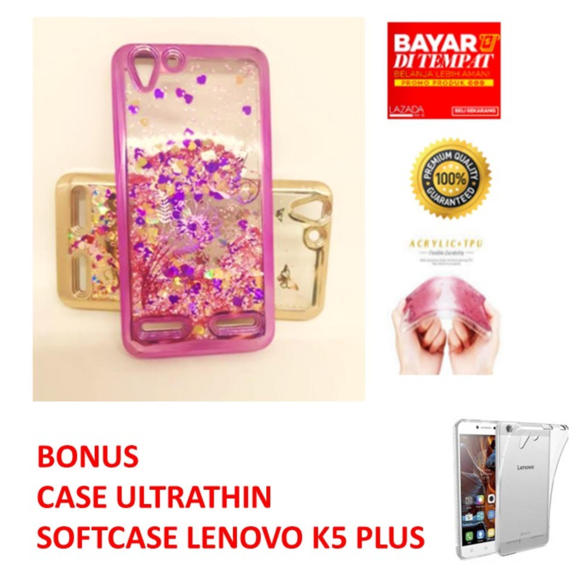 CASE WATER GLITTER LIQUID WITH SAND FOR LENOVO K5 PLUS/ CASING AIR BLINK UNTUK LENOVO