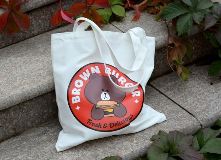Baby Angeline Tote Bag Karakter Line / Handbag Line / Tas Kanvas / Burger Bag